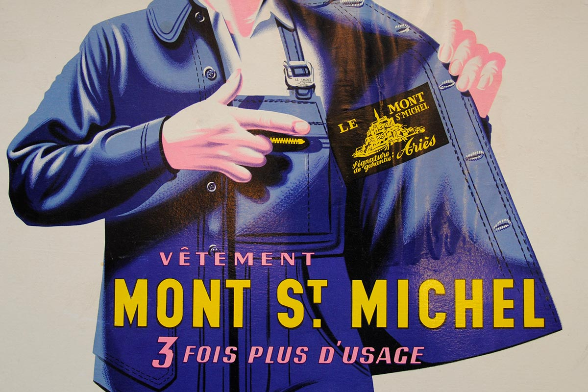 Le Mont St Michel Work Jacket Advert