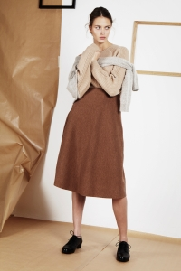 Cashmere sweater<br/>Alpaca and wool sweater<br/>Milano piqué knit long skirt